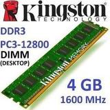 Memoria 4gb Ddr3  Para Pc 10600 12800 Bus 1333 1600