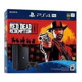 Ps4 Play Station 4 Pro 1tb 4k Red Dead Redemption 2