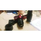 Cámara Nikon D3200 Profesional Con Dos Lentes