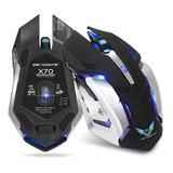 Mouse Gamer Zerodate X70 Inalámbrico Recargable 7 Botones