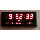 Reloj Digital De Pared Calendario Temperatura 36cm X 15cm