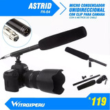 Microfono Unidireccional Con Clip Para Camara