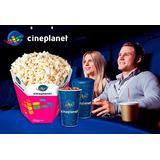 Cineplanet:2 Entradas2d+cancha Gigante(recargable)y Gaseosas