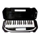 Flauta Melodica Melody  32 Teclas Negro-estuche Rigido