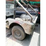 Jeep Willy Sin Motor - Con Placas Y Tp -1962