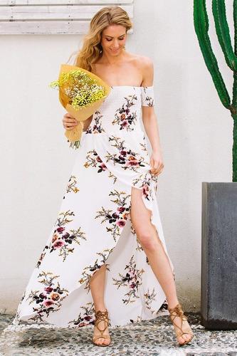 87d1c85d7 Vestido Largo Elegante Floral Talla M Nuevo Importado Stock