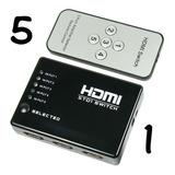 Switch Selector Hdmi De 1 A 5 Equipos A 1 Tv Full Hd 3d