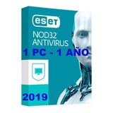 Eset Nod32 Antivirus 2019 V11v12 Licencia Original 1añox1pc