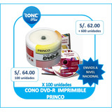 Dvd-r Princo 8x Imprimibles Pack 50 Nuevo