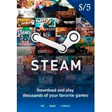 Steam Gift Card 5,10, Y 20 Soles
