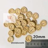 Botones Handmade De Madera De 20mm