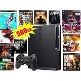 Ps3 Consola Play Station 3 Slim 500 Gb + 50 Jueg Ps3 Gratis!