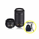 Kit De Lentes Nikon Af-s Dx35mm F/1.8g Y 70-300mm F/4.5-6.3g