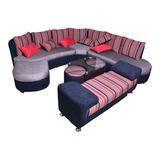 Sofa Seccional Juegos De Sala Mueble Puff, Vintage