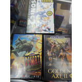Sega Genesis  Sonic, Golden Axel, Desert Strike