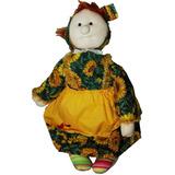 Muñeca Country Vestido Floreado 60 Cm Navidad Regalo Amor