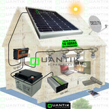 Panel Solar 50w, Sistema Completo+batería 40ah+regulador+inv
