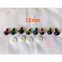 Ojos De Seguridad De Colores De Plástico P/amigurumis 12mm