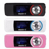 Reproductor Mp3 Master G 4gb Expandible Radio Fm/audifono