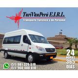 Alquiler De Vans Y Mini-bus Con Conductor, Autos Y Camioneta