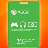 Xbox Live Gold 14 Dias Membresia Para Jugar En Linea !!!