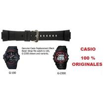 Correa Original Casio Negra Solo Mod G-shock G100, G101,2300