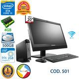 Computadora Core I5 4ta Led 20 Teclado Mouse Garantia 1 Año
