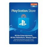 Tarjeta Gift Card Psn $20 Usa (código Digital)