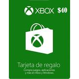 Xbox 40 Dolares Usd