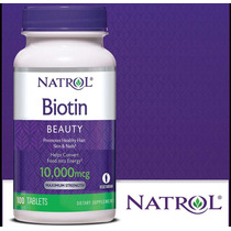 Biotin Biotina Natrol 10000 Caida De Cabello Nueva Version