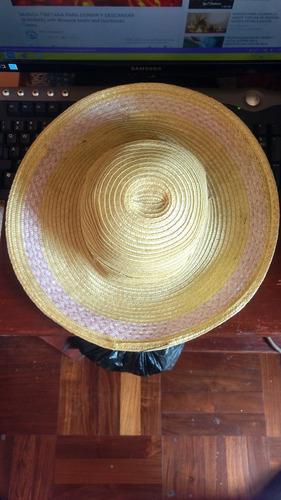 Lindo Sombrero De Paja Para Dama En Perfecto Estado e28dd553dd8