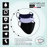Mascarillas Reutilizables Tapabocas Con Filtros Y Clip Nasal