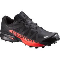 Zapatilla Unisex Salomon -  S-lab Speedcross Negro/rojo
