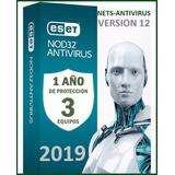 Eset Nod32 Antivirus 1 Año Una Licencia Original Para 3pc