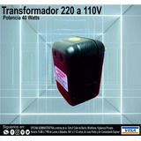 Transformador 40 Watts 220 A 110v. Reales
