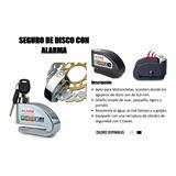 Seguro De Disco Con Alarma Para Motos