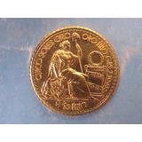 5 Soles Oro Peru Moneda De Oro Libra Libertad Año Escasa Unc