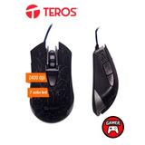 Te Mouse Óptico Gamer Teros Te-g55, 2400 Dpi, Ergonómico, 6