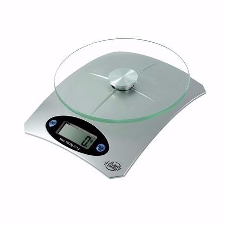 Balanza de cocina 1g a 5kg henkel bandeja de cristal lcd s for Balanza cocina 0 1 g
