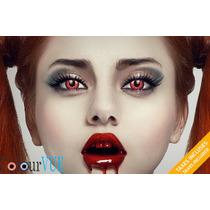 Lentes Halloween Blanco Rojos, Vampiros, Sharingan Disfraces