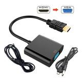 Adaptador Hdmi A Vga Audio + Usb Pc Laptop Ps3 Ps4 A Monitor