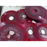 Disco De Vinilo  Color Rojo Para Decoracion O Coleccion