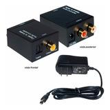 Conversor Convertidor Audio Optico Coaxial A Analogo Rca