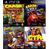Crash Bandicoot 1, 2, 3 + Crash Team Racing Ps3 Español