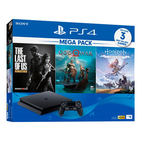 Ps4 Consola Play Station 4 Slim 1tb + 3 Juegos
