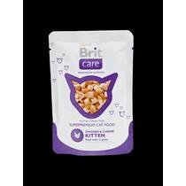 Brit Care Cat Chicken & Cheese Kitten Gatito Pouch 80gr