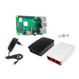 Raspberry Pi 3 Pi3 B Plus+ Fuente 5v3a+ Case + Disipadores