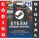 Tarjeta Steam De S/15 Para Dota 2 Y Juegos Steam