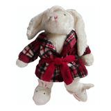 Peluche Conejo Pijama 60cm Amor  Regalo Navidad Amor