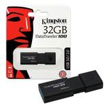 Memoria Usb 3.0 Kingston 32gb Dt100 G3 Retráctil - Delivery